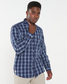 Jeep Check Shirt Blue