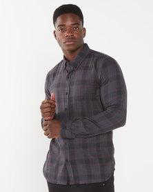 Deacon Novel Long Sleeved Shirt  Burgundy
