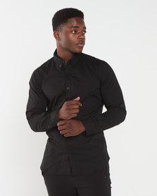 Deacon Vivid  Long Sleeved  Stretch Shirt Black