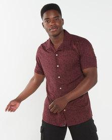 St Goliath Havana Short Sleeve Shirt Burgundy