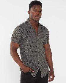 St Goliath Storm Short Sleeve Shirt  Khaki