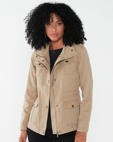 Jeep Twill Military Jacket Khaki