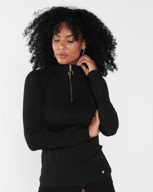Sissy Boy Zip Me Up Top Black