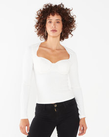 Sissy Boy On Track Top Off White