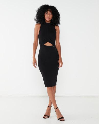Sissy Boy Madam Turtle Neck Midi Dress Black