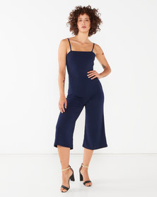 Sissy Boy Seeing Double Jumpsuit Navy
