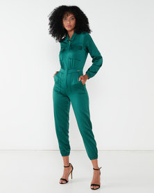 Sissy Boy Boity Military Boiler Suit Emerald