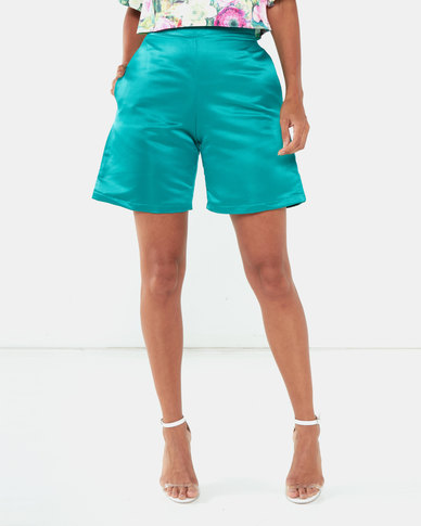 Kissed By LH High Waist Shorts Green