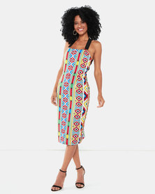Kissed By LH Ndebele Print Dress Red