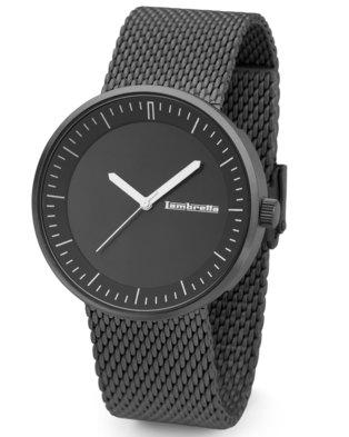 Lambretta Unisex Watch Shimmer Dial & Mesh Strap Black