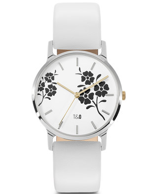 Tick & Ogle Ladies Watch - Leather Silver White