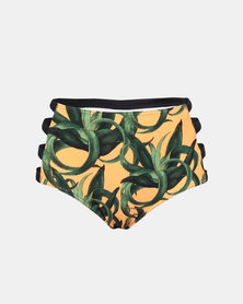 Beachcult Rohanna Swimwear Bikini-Bottom Mustard Aloe