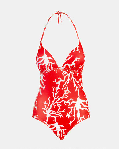 Beachcult Suzanna Swimwear  One-Piece Red Coral