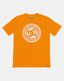 DC Boys Circle Star T-Shirt Orange