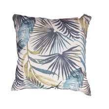 Amore Home Blue Leavy Scatter Cushion Cover with Inner
