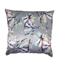 Amore Home Duchess Satin Silver Scatter Cushion Cover with Inner