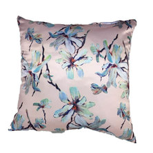 Amore Home Duchess Satin Pink Floral Scatter Cushion Cover with Inner