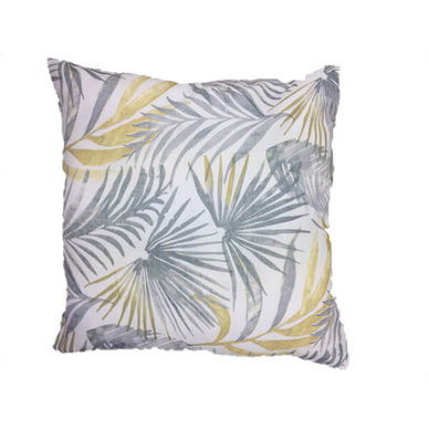 Amore Home Grey Leavy Scatter Cushion Cover with Inner