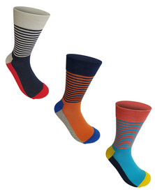 Undeez 3 Pack Bright Trouser Socks Pack 6