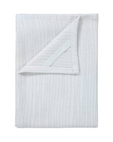 blomus Belt Cotton Tea Towels in Lily White and Micro Chip Set of 2