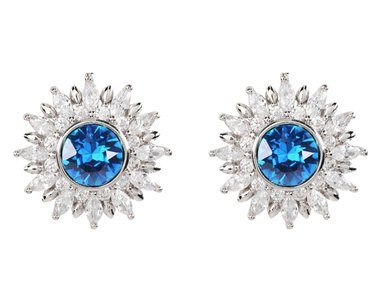 Civetta Spark Poppy studs made with Swarovski Crystal - Sapphire