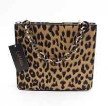 LaMara Paris Adriana leopard print clutch bag