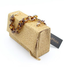 LaMara Paris Cairo woven mini bag neutral