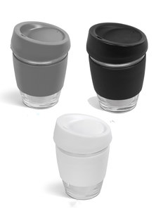 Always Summer 2 Pack Glass Travel Coffee Cups Classic