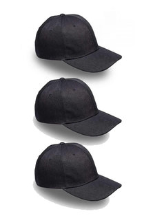 Always Summer 3pk 6panel caps Black
