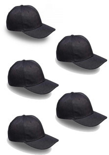 Always Summer 5 pack 6panel caps Black