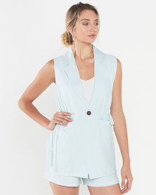 LaMara Paris Athena 3 pc pastel blue playsuit