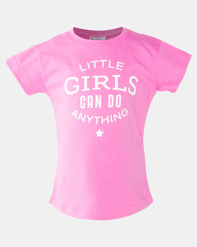 Home Grown Girls Can Do Anything Tee Pink