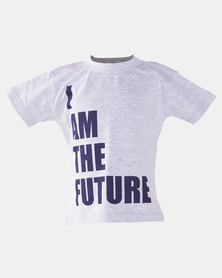 Home Grown Boys I am The Future Tee Grey