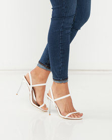 Madison Janelle Strappy Heels White