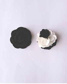 K M Creations Magnet Back Lapel Flowers Black