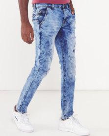 Soviet Mendez #4 Skinny Denim Jeans Light Indigo