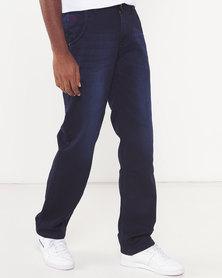 Soviet Double Dip Zackey #12 Straight Leg Denim Jeans Blue
