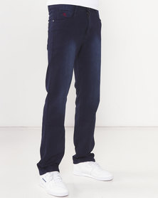 Soviet Sulphur Rivez #5 Straight Leg Denim Jeans Blue