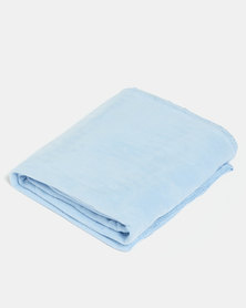 Aranda Large Top Suede Throw Blue