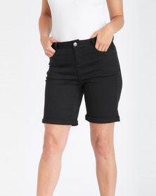 Contempo Twill Shorts Black