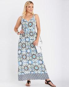 Contempo Mosaic Maxi Dress Multi
