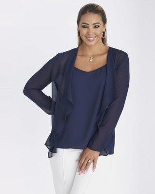 Contempo Soft Waterfall Jacket Navy