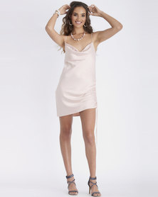 Contempo Generation Satin Slip With Tie Side Pink
