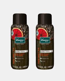 "Kneipp Bubble Bath Blood Orange & Black Pepper Aromatherapy ""Men Only 2.0"" 400 ml Set of 2"