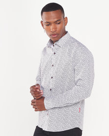 Cutty Jake Circle Print Shirt White