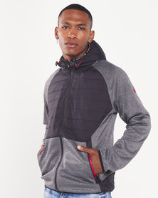 Cutty Ship Hooded Jacket With Padding Charcoal
