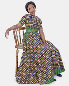 ONA U Flared Dress with a Matching Head Rap