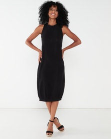 Utopia Knit Maxi Dress Black