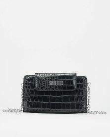 Blackcherry Bag Micro Accordion Crossbody Bag Black