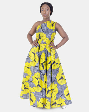 ONA One Arm Dress with Matching Head Rap